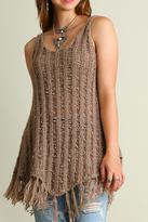 Umgee USA Fringe Knit Sweater Top