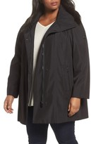 Calvin Klein Plus Size Women's Asymmetrical Hooded Raincoat