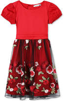 Speechless Cap-Sleeve Embroidered Dress, Little Girls (2-6X)