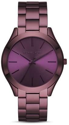 Michael Kors Slim Runway Purple Link Bracelet Watch, 42mm