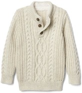 Gap Cozy cable mockneck sweater
