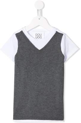 Douuod Kids front knit T-shirt