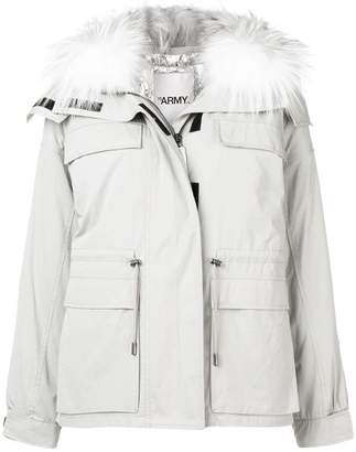 Yves Salomon fur collar puffer jacket