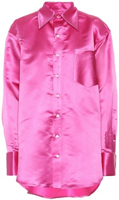 Matthew Adams Dolan Oversized silk shirt