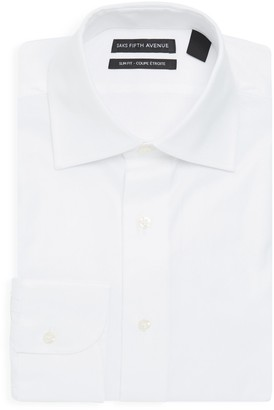 Saks Fifth Avenue Slim-Fit Royal Oxford Woven Cotton Dress Shirt