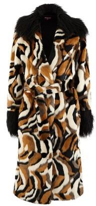 STAUD Coraline faux fur coat