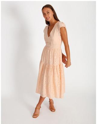 Miss Shop Midi Broderie Dress