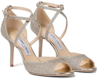 Jimmy Choo Emsy 85 glitter sandals