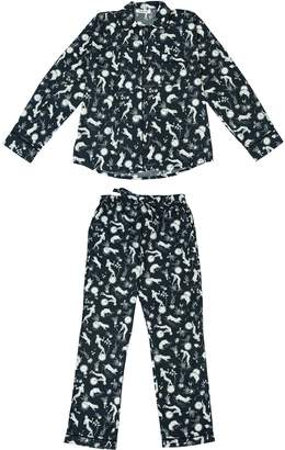Phriya Women's Navy Blue Odyssey Long Pajama Set