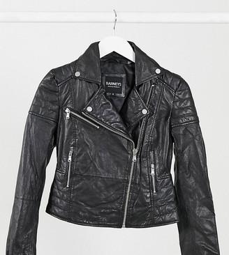 Barney S Original Petite Barney's Originals Petite Clara real leather biker jacket