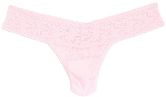 Hanky Panky Low Rise Thong in Bliss Pink