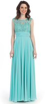 Cindy Preorder - Mint Lace & Chiffon Sleeveless Gown 2015 Prom Dresses