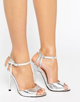 Little Mistress Peep Toe Heeled Sandal with Ankle Strap