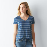 Women's SONOMA Goods for LifeTM Slubbed V-Neck Tee