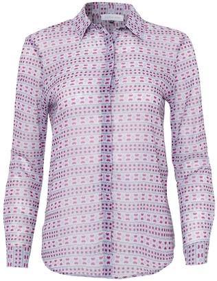 Silver Pink Print Shirt In Blush