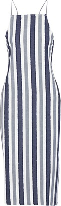 Onia Melanie Striped Fil Coupe Cotton Midi Dress