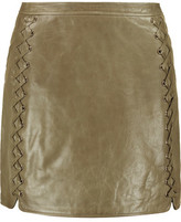 Rebecca Minkoff Vixen Whipstitched Leather Mini Skirt