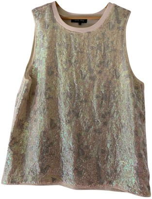 April May Silver Glitter Top for Women