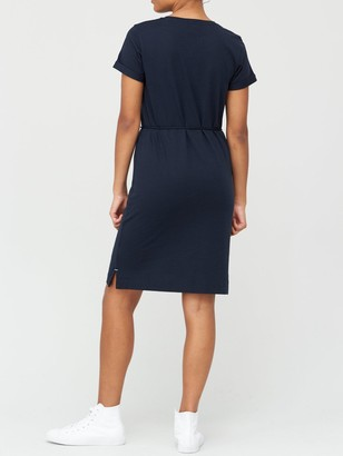 Tommy Hilfiger Essential Regular Crew Neck Dress - Navy
