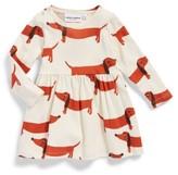 Mini Rodini Infant Girl's Dogs Organic Cotton Dress