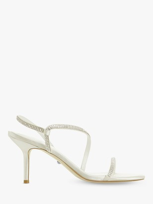 Dune Marion Crystal Barely There Heeled Sandals, Ivory