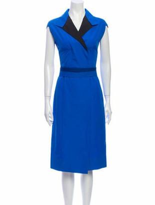 Narciso Rodriguez 2019 Midi Length Dress Blue