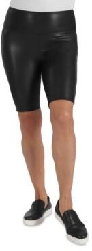 Seven7 Faux-Leather Bike Shorts