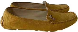 Gucci Yellow Suede Flats