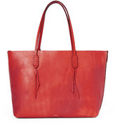 Polo Ralph Lauren Scalloped-Edge Leather Tote