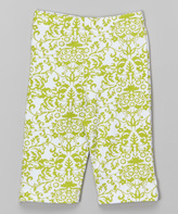 Flap Happy Bella Brocade Print Capri Leggings - Infant Toddler & Girls
