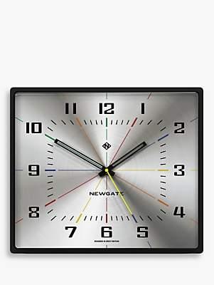 Newgate Clocks Box Office Large Wall Clock, Silver, 42cm