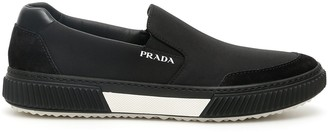 Prada Panelled Slip-On Sneakers