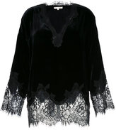 Gold Hawk scalloped lace jacket