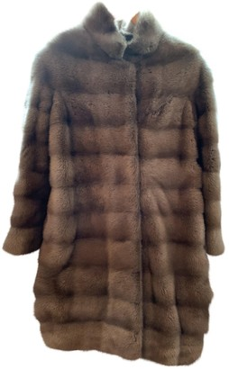 Simonetta Ravizza Brown Mink Coat for Women