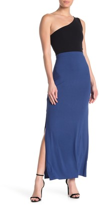 Know One Cares Side Slit Maxi Skirt