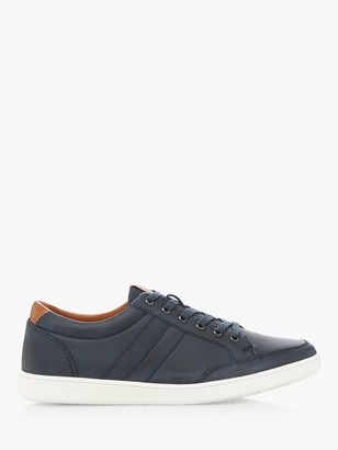 Dune Travel Leather Lace Up Trainers