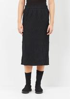 Issey Miyake black / black solid tribal skirt