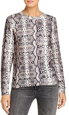 Vero Moda Snakeskin-Print Crewneck Sweater