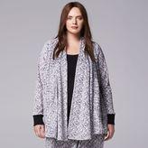 Plus Size Simply Vera Vera Wang Pajamas: Catch Me Cozy Velour Sleep Wrap