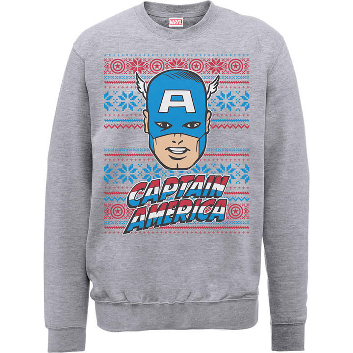 Captain America Christmas Sweater - Hoodie and Sweater