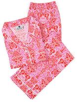 Malabar Bay Red Damask West Indies Pajama Set