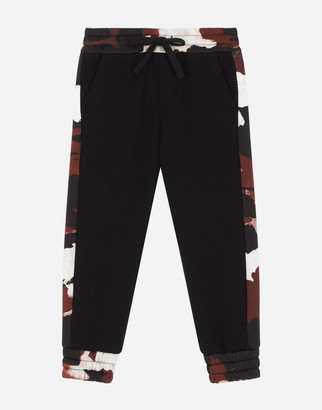 Dolce & Gabbana Jersey Jogging Pants With Camouflage Intarsia