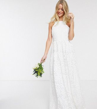 Y.A.S wedding maxi dress in cut out lace in white