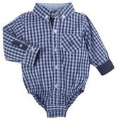 Andy & Evan Infant Boy's 'Shirtzie' Check Bodysuit