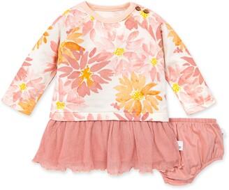 Burt's Bees Autumn Picks Organic Baby Tulle Dress & Diaper Cover Set