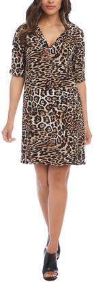 Karen Kane Leopard Print Shift Dress