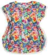 MC2 Saint Barth Parrots Print Cotton Muslin Cover-Up