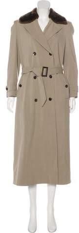 Loro Piana Fur-Trimmed Long Coat