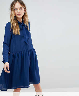 Y.A.S Tall Pussybow Skater Dress