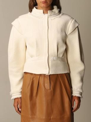 Alberta Ferretti Blazer Boucle Mat With Wide Sleeves